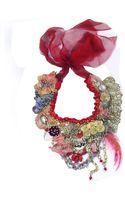 Krista R Vagabond Tribal Inspired Textile Art Neckpiece - Lyst