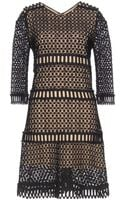 Chloé Crochet Woolblend Dress - Lyst