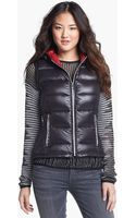 London Fog Hooded Packable Down Vest - Lyst