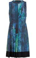 Proenza Schouler Geometric Printed Silk Dress - Lyst