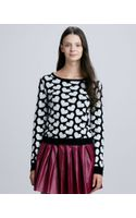 Alice + Olivia Emmy Heart Print Sweater - Lyst