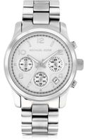 Michael Kors Runway Stainless Steel Womens Chronograph Watch - Lyst
