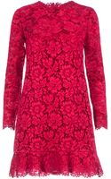 Valentino Boxy Floral Lace Dress - Lyst