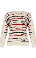 Iro Colored Stripe Knit Jumper - Lyst