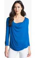 Michael by Michael Kors Drape Neck Knit Top - Lyst