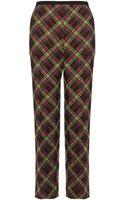 Antonio Marras Lime Neon Tartan Trousers - Lyst