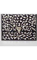 Proenza Schouler Large Cutout Neoprene Lunch Bag Clutch Black - Lyst