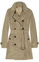 Burberry Brit Hooded Packaway Trench Coat - Lyst