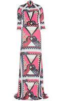 Etro Printed Satinjersey Maxi Dress - Lyst