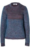Jil Sander Cashmere Mohair Pullover in Avio Mouline - Lyst