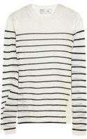 A.L.C. Clifford Striped Fine-knit Wool-blend Sweater - Lyst