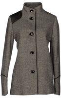 Emporio Armani Midlength Jacket - Lyst