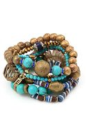 Vanessa Mooney Misty Mountain Bracelet Turquoise - Lyst