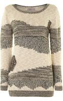 Label Lab Textured Patchwork Knit Jumper - Lyst