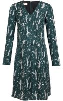 Marni Printed Silk Twill Dress - Lyst