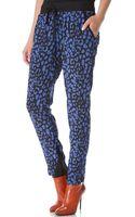 Sea Leopard Drawstring Pants - Lyst