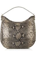 Tory Burch Catalina Leather Hobo - Lyst