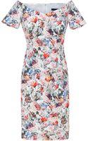 Zara Floral Print Dress - Lyst