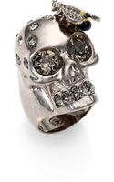 Alexander McQueen Bee Skull Cocktail Ring - Lyst