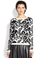 Alice + Olivia Wade Wool Rhinestone Sweater - Lyst