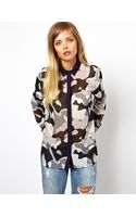 Wesc Asos Shirt in Camouflage Print with Contrast Collar - Lyst