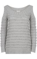Donna Karan New York Cold Shoulder Knit - Lyst