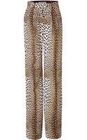 Emanuel Ungaro Leopard Print Wide Leg Pants - Lyst