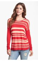 Kensie Drop Shoulder Stripe Tee - Lyst