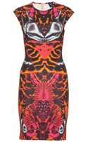 McQ by Alexander McQueen Printed Stretchjersey Dress - Lyst