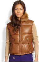 Ralph Lauren Blue Label Leather Dartford Vest - Lyst