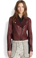 Sachin & Babi Salma Twillpaneled Leather Biker Jacket - Lyst