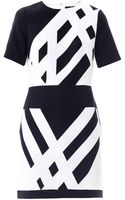 Tibi Monochrome Graphic Print Dress - Lyst
