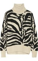 Joseph Zebrapatterned Merino Wool Sweater - Lyst