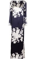 Harvey Faircloth Floral Long Dress - Lyst