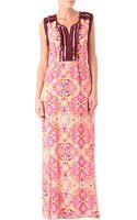 Matthew Williamson Tula Embroidered Maxi Dress - Lyst