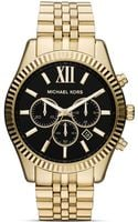 Michael Kors Mens Gold Tone Lexington Chronograph Watch 45mm - Lyst