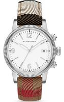 Burberry The Utilitarian House Check Strap Watch 38mm - Lyst