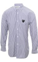 Comme Des Garçons Play Mens Stripe Shirt with Black Heart - Lyst