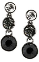 Givenchy Hematitetone Crystal Stone Circular Drop Earrings - Lyst