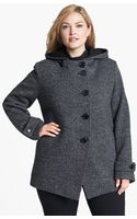 Kristen Blake Hooded Wool Blend Coat - Lyst