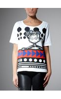 Patrizia Pepe Printed Cotton Jersey T-shirt - Lyst