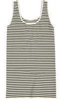 Tees By Tina Microstripe Tank - Lyst