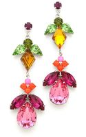 Tom Binns Crystal Drop Earrings - Lyst
