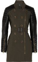 W118 By Walter Baker Keanu Faux Leather sleeved Cotton twill Trench Coat - Lyst
