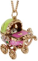 Betsey Johnson Goldtone Baby Carriage Pendant Long Necklace - Lyst