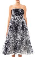 Giambattista Valli Couture Dalmatian Spot Strapless Dress - Lyst
