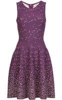 Issa Flared Dot Print Dress - Lyst