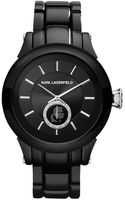 Karl Lagerfeld Womens Silver and Black Ionplated Stainless Steel Bracelet 40mm - Lyst