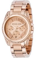 Michael Kors Womens Chronograph Blair Rose Goldtone Stainless Steel Bracelet 41mm - Lyst