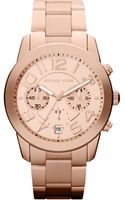 Michael Kors Womens Chronograph Mercer Rose Gold Tone Stainless Steel Bracelet 42mm - Lyst
